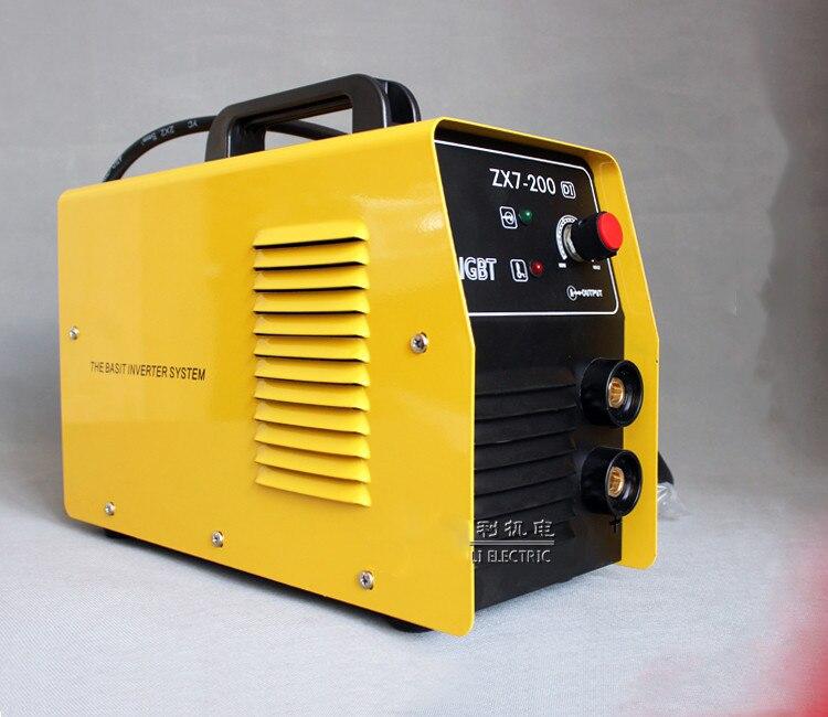 ФОТО 220V New Welder Copper Core Portable Household Inverter DC Manual Arc Welding Machine Single-phase ZX7-200DI