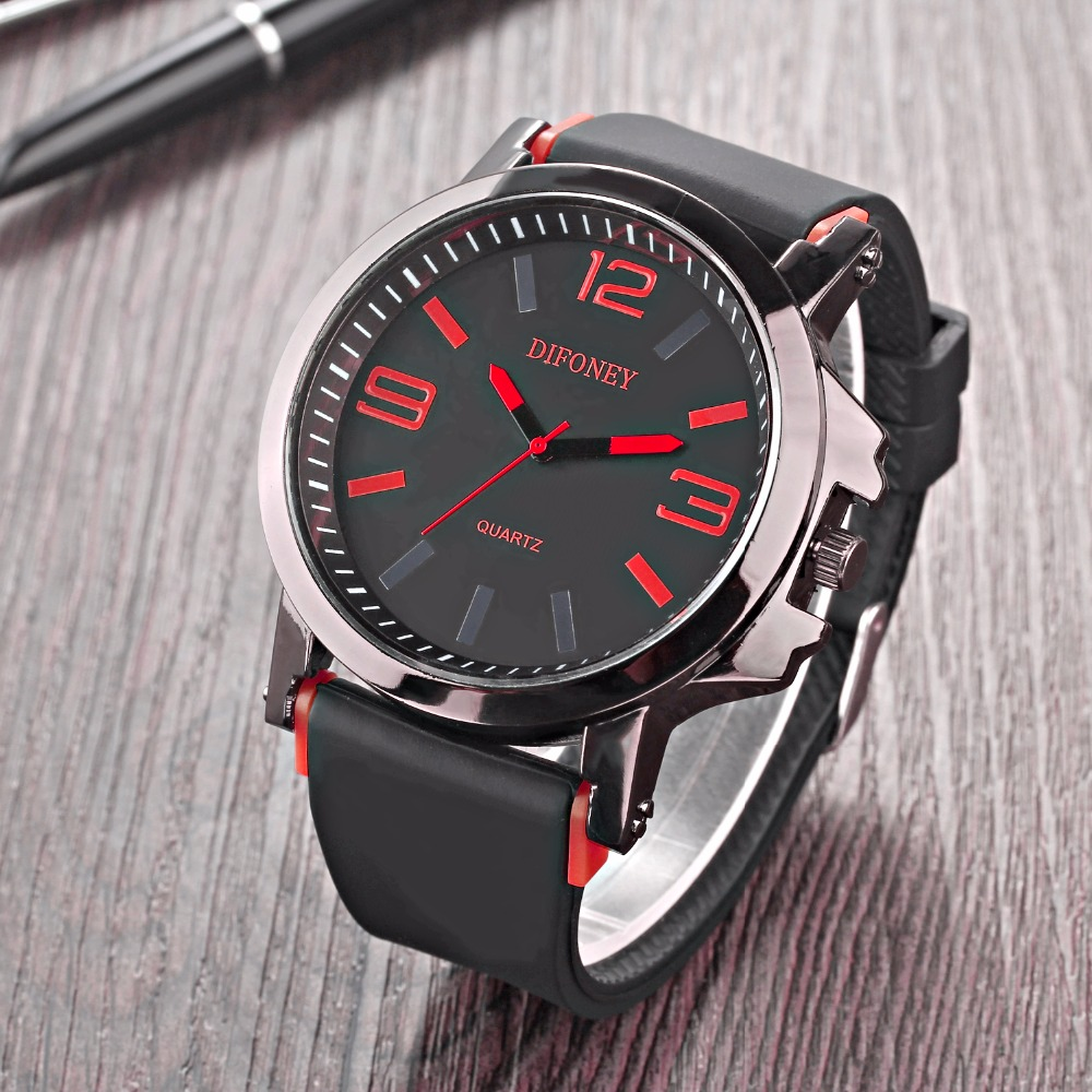 Big Dial Men's Watch Casual Quartz Wristwatches
