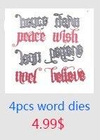 4pcs word dies