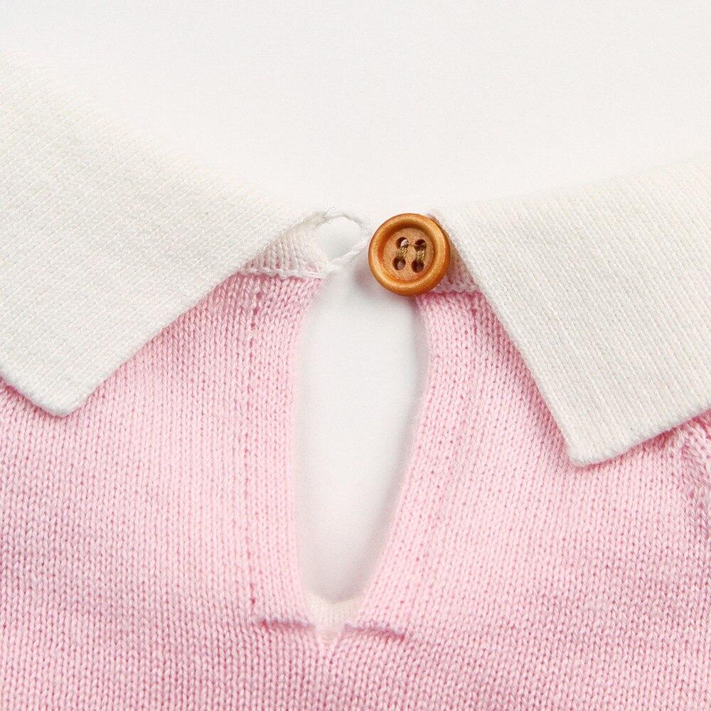 2018 Moda Maluch Dzieci Dziewczynka Sukienka Z Krótkim Rękawem - Odzież dla niemowląt - Zdjęcie 4