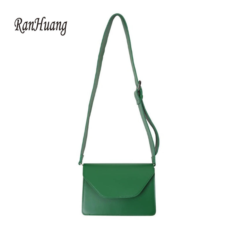 Image 5 - RanHuang New Arrive 2019 Women Pu Leather Shoulder Bags Girls Brief Flap Women's Casual Messenger Bags Crossbody Bags-in Shoulder Bags from Luggage & Bags