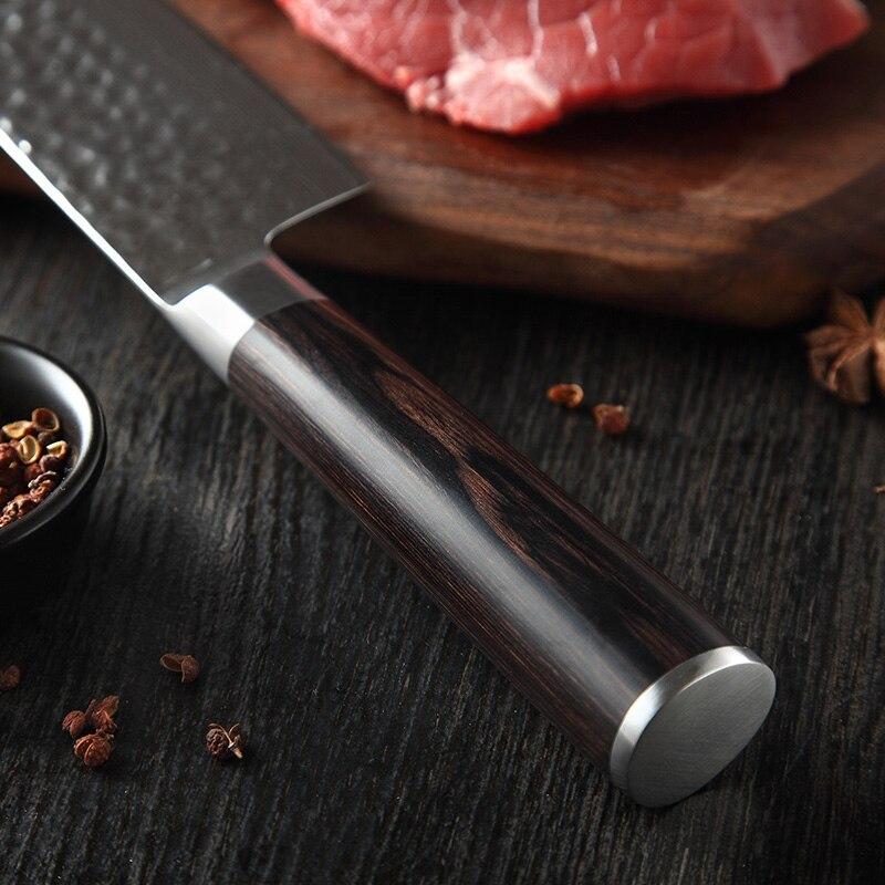 Image 5 - XINZUO Japanese Damascus Steel 6PCS Kitchen Knives Set Ultra Sharp Blade Chef Knife 62 HRC Cooking Knife Tools Pakkawood HandleKnife Sets   -