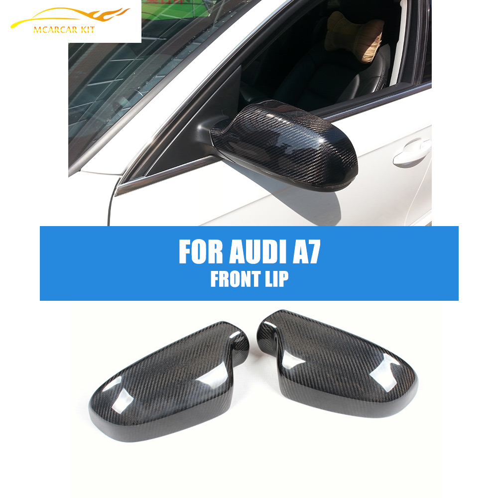 Carbon Fiber Black Add on style Rearview Mirror Covers For Audi A4 B9 2013-14 Auto Car Mirror House Side Wing Caps Car Styling 2pcs carbon fiber rearview mirror cover for audi a4 b8 2013 2015