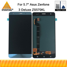 "5.7"" Amoled For Asus Zenfone 3 Deluxe ZS570KL Z016D Z016S Axisinternational LCD Display Screen+Touch Panel Digitizer For ZS570KL"