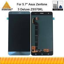"5.7 ""Amoled dla Asus Zenfone 3 Deluxe ZS570KL Z016D Z016S Axisinternational ekran LCD + Panel dotykowy Digitizer dla ZS570KL"