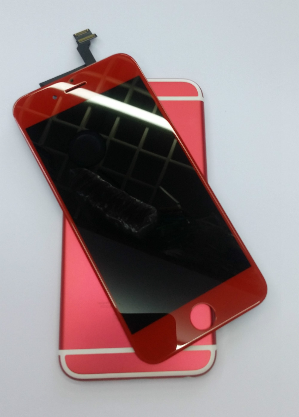 another chance 34ac8 af1bd US $90.0  Final SALE! Good Quality Red LCD Touch Screen Display Digitizer  Assembly Replacement + Red back housing For iPhone 6 replacement-in Mobile  ...