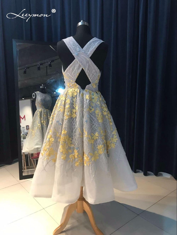 Novi vrući seksi Crystal koktel haljina 2017 Backless čipka kratki - Haljina za posebne prigode - Foto 2