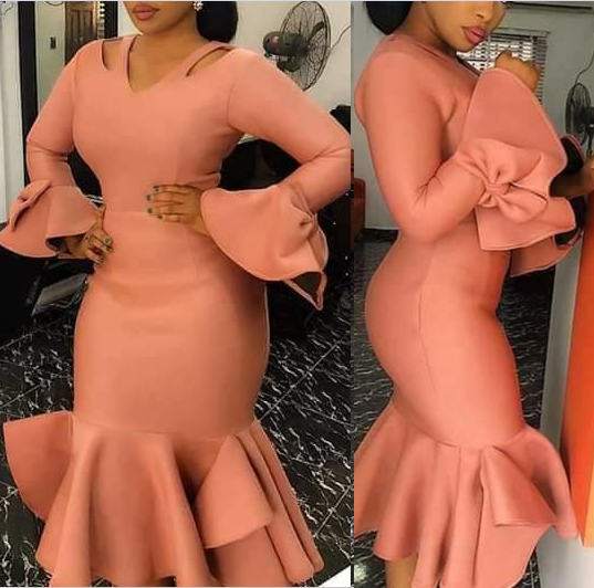 Women Bodycon Party Dress Hollow Out Shoulder Ruffles Long Sleeves With Bowtie Elegant Slim Evening Dating Robes Female Tunics
