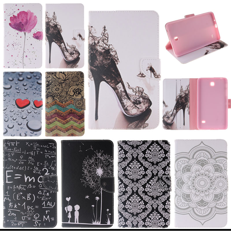 купить For Samsung T230 case cover PU Leather Silicone Tablet Cases For Samsung Galaxy Tab 4 7.0 T230 231 T235 Sm-t230 with card slot недорого