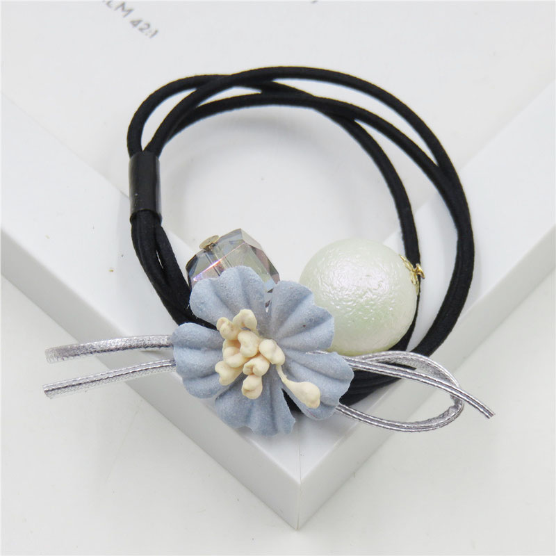 Girl's Accessories Apparel Accessories The Cheapest Price 1pcs Lovely Flower Gray Ball Elastic Hair Bands Toys For Girls Handmade Bow Headband Scrunchy Kids Hair Accessories For Womens Making Things Convenient For Customers