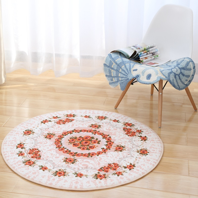 Drop Shipping Europe Style Round Rugs And Carpet Tapetes Tapis Salon Moderne  Flower Sofa Table Floor Mats 80cm/100cm/120cm/140cm In Mat From Home U0026  Garden ...