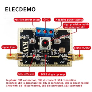 Image 3 - OPA842 モジュール低ノイズアンプモジュール 400 Mhz の帯域幅オープンループ利得 110dB 団結ゲイン安定機能デモボード