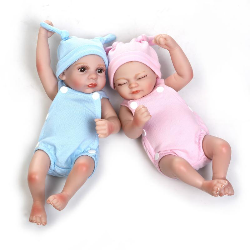ФОТО NPK COLLECTION 12inch host sale lovely mini simulation twin baby girl and boy full soft  silicone reborn dolls with sleeping bag