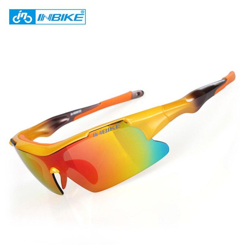 INBIKE lunettes de cyclisme hommes femmes lunettes de cyclisme polarisées 2018 nouveauté lunettes de vélo jaune coupe-vent Jogging lunettes de soleil