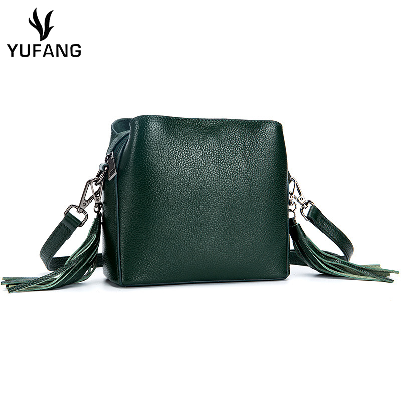 YUFANG Women Handbags Natural Cowhide Female Shoulder Messenger Bag Candy  Color Genuine Leather Crossbody Bag Sling 999a2489ac748