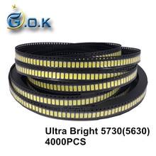 4000pcs Ultra Bright LED SMD chip 5730 5630 0.5W 50-55lm 6000-6500K White Surface Mount Light-Emitting Diode LED SMT Bead Lamp