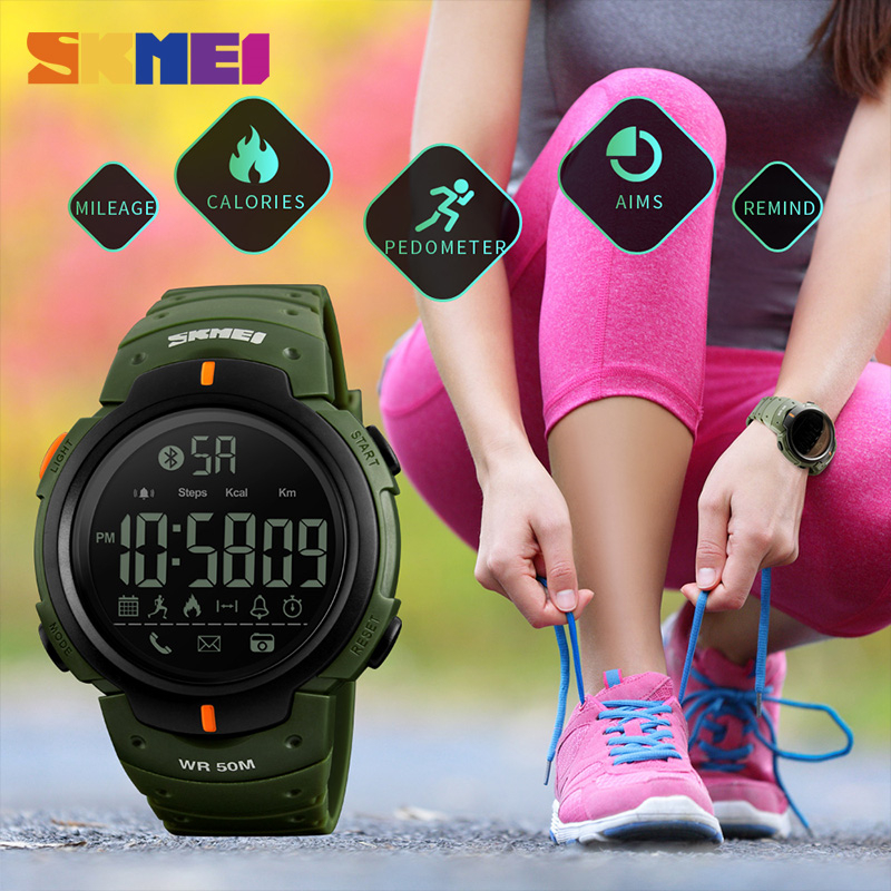SKMEI Fashion Smart Watch Men Calorie Pedometer Bluetooth Klockor - Herrklockor - Foto 3