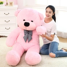 big bow round eyes pink teddy bear toy huge bear doll gift about 180cm