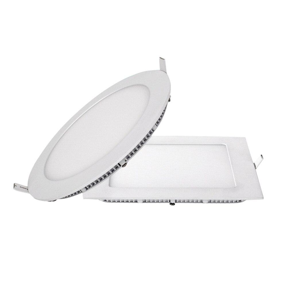 (4 Teile/los) Ultradünne Led-panel Downlight 6 Watt 12 Watt 18 Watt Runde/quadrat FÜhrte Decken Einbauleuchte Led-panel Licht