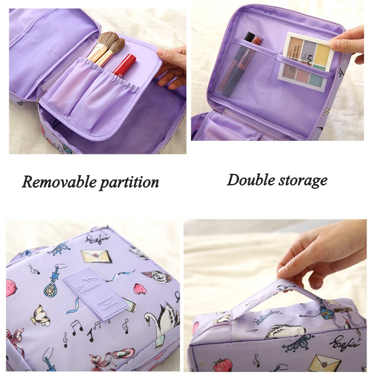HTB1ZZPnXkCy2eVjSZSyq6xukVXaq - New Flower Makeup Bag Women Waterproof Portable Cosmetic Bag Travel Necessity Beauty Toiletry kit Organizer Bag