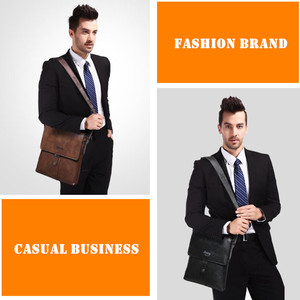 Image 5 - JEEP BULUO Brand Mens Bags Split Leather Fashion Male Messenger Bags Man Casual Crossbody Shoulder Bag For iPad Mini Classic