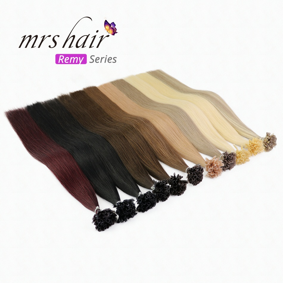 MRS HAIR Remy Nail Hair Extensions Straight 14