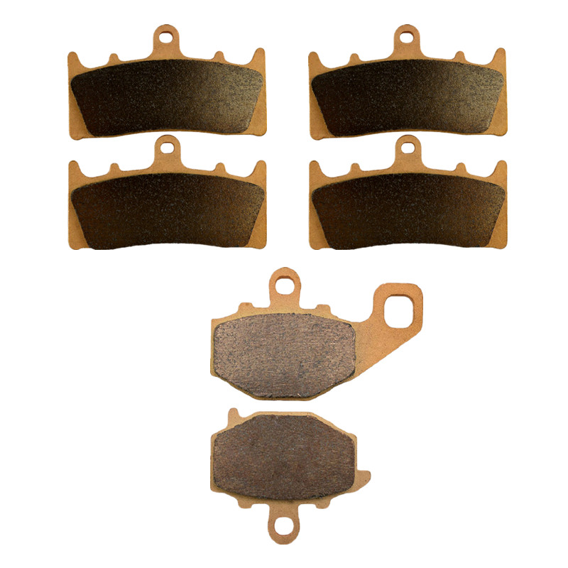Motorcycle Parts Copper Based Sintered Motor Front & Rear Brake Pads For Kawasaki ZX6R 2000-2002 Brake Disk