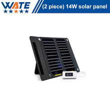 14W solar charger, liquid crystal display, monocrystalline silicon charging board, mobile phone camera, mobile power supply