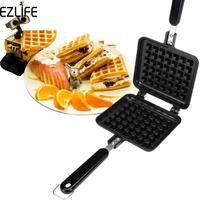 EZLIFE Waffle Flip Pan Sandwich Grill Press Bread Baking Sandwich Snack Maker Dessert Nonstick Double Side Pressure Pan LQZ8398