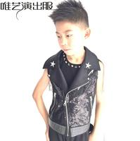 2018 summer style personality Sequins slim male clothes sleeveless Children's Festival vest men singer dance stage star fashion