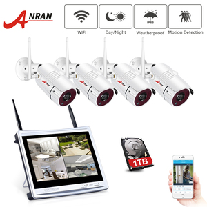 Image 1 - ANRAN 12 Zoll LCD Bildschirm 1080P 4CH WIFI NVR Kit HD 2MP Outdoor WiFi IP Wireless Security Kamera System wasserdichte Video Recorder