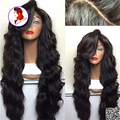 Grade 8A Top Quality Heavy Density Lace Front Human Hair Wigs 250% Body Wave Brazilian Virgin Hair Lace Front Wig Black Women