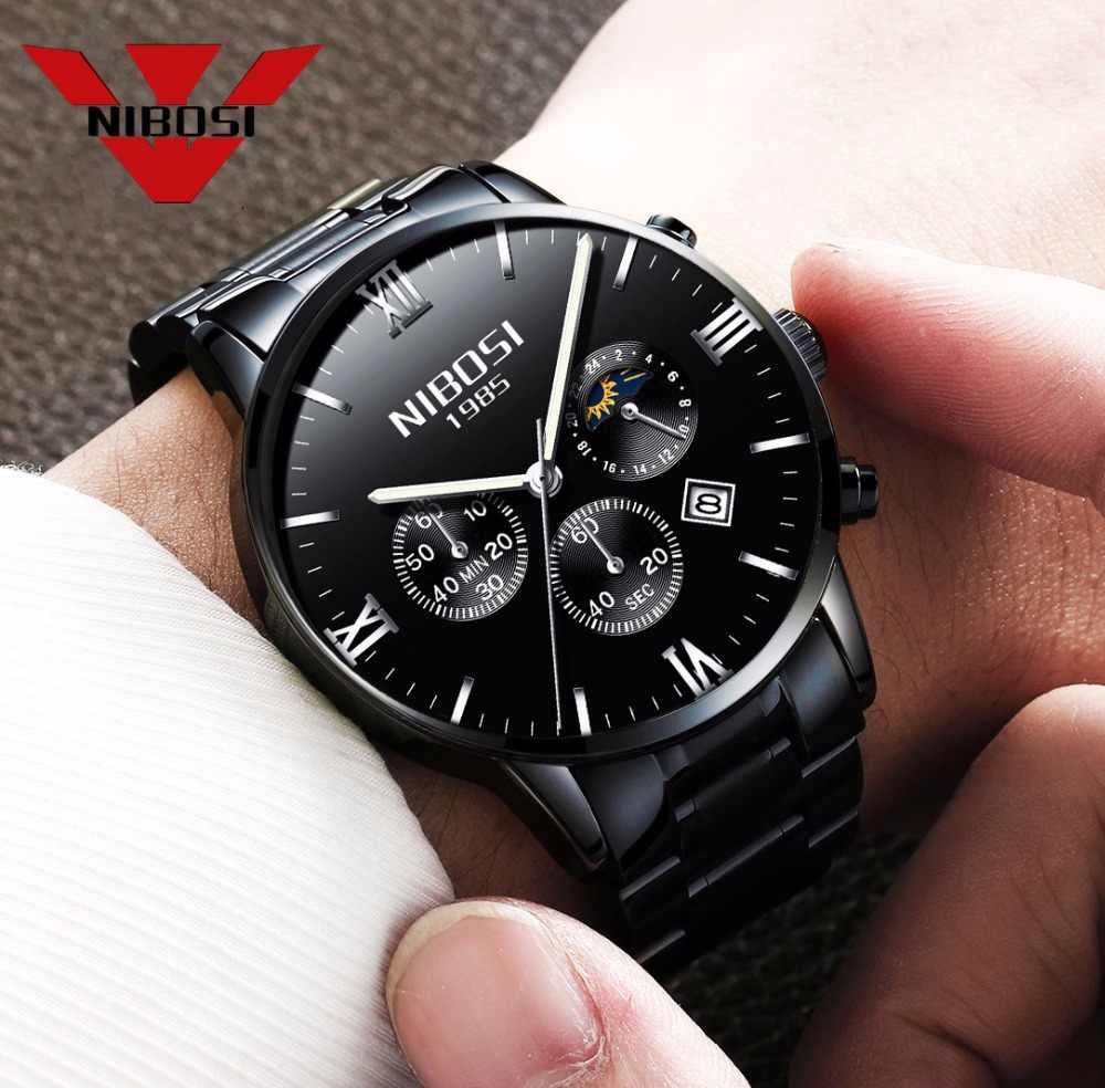NIBOSI relojes de pulsera de cuarzo militar para hombre, relojes de pulsera para hombre, relojes para hombre, relojes de marca de lujo