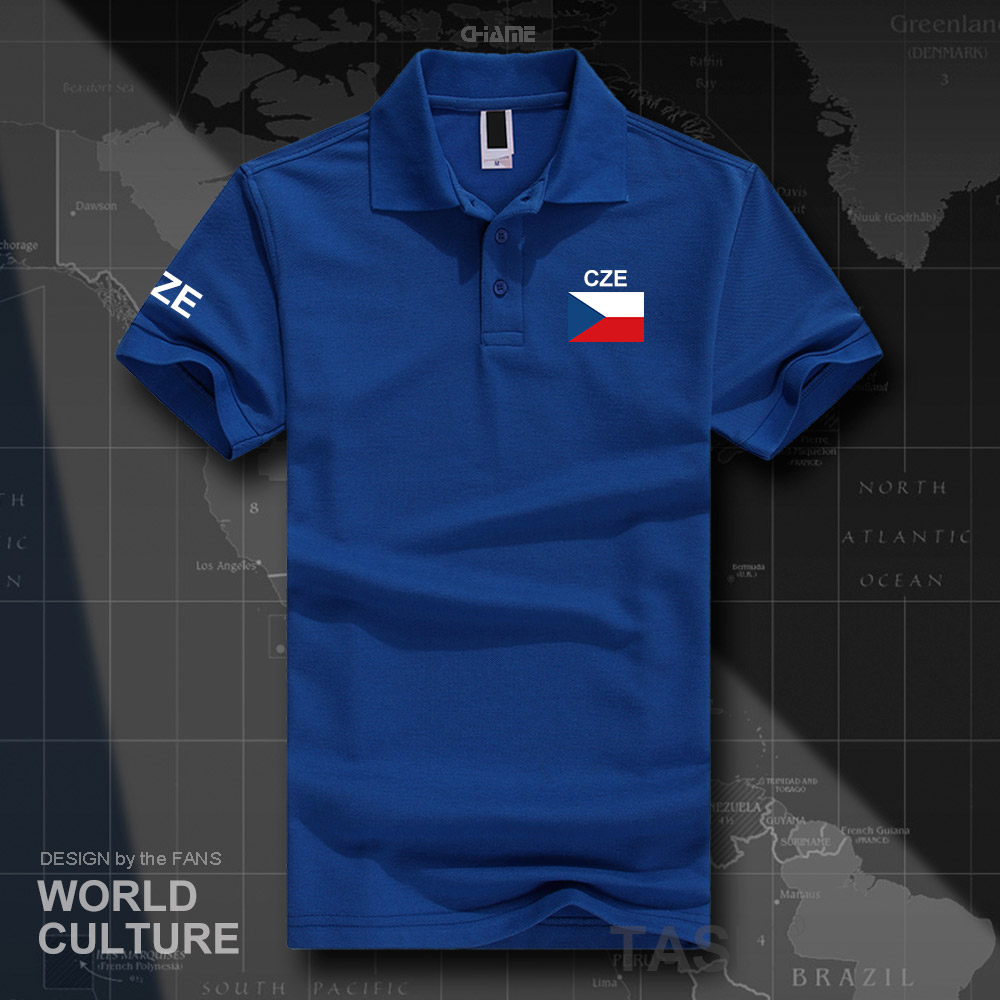 Czech Republic Czechia polo shirts men short sleeve white brands printed for country 2017 cotton nation team flag new casual CZ