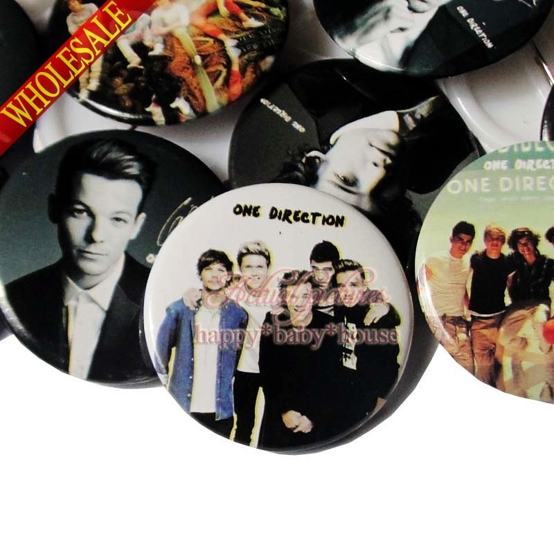 Cartoon Character 18PCS One Direction 30mm Diameter Novelty  Buttons Pins Badges Round Badges Children Gifts Bags Accessories