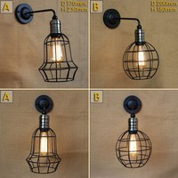 new design antique black metal wire ball wall lamp with long swing arm for workroom bedside bedroom illumination sconce|ball wall lamp|designer wall lampwall lamp -