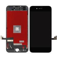Высочайшее качество oem 1 шт. без битых пикселей ЖК-дисплей для iphone 8 ЖК-дисплей Дисплей с Сенсорный экран планшета Ассамблеи Замена + Держатель камеры