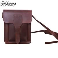2017 New Arrival New Genuine Leather Original Design Handmade Man's Inclined Shoulder Bag Leather High Quality Vintage Style