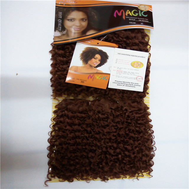 Sythetic Hair Weaves Magic Hair Extensions Afro Lady Hair Extension