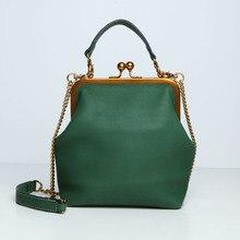 цены на Retro Top Handle Women Handbag Chain Shoulder Messenger Bag Gold Clip Bag Crossbody Bag for Women Purses Clutch Bolsas De Mujer  в интернет-магазинах