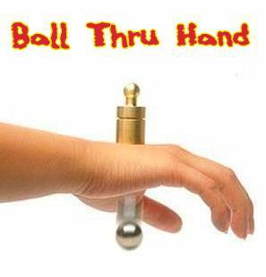 Ball Thru Hand Magic Tricks,Mentalism,Horrible,Stage Magic,Accessories,Illusions,Close Up,Magician Ball,Street,Gimmick,Funny