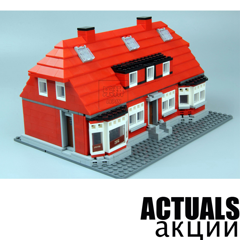 Lepin 17006 Creator Serier 928Pcs The Red House Set 4000007 Education Building Kits Blocks Bricks Model Toys For Children Gift lego education 9689 простые механизмы