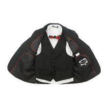 New Fashion Striped Boys Suits For Weddings Black Boys Suits Blazers Formal Children Blazer Set Wedding Suit