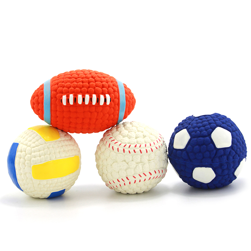 Adidog Dog Pet Rubber Pinball Balls Toy For Small Dogs Interactive Volleyball Puppys Chew Play Toys Cachorro Pet Supplies 103