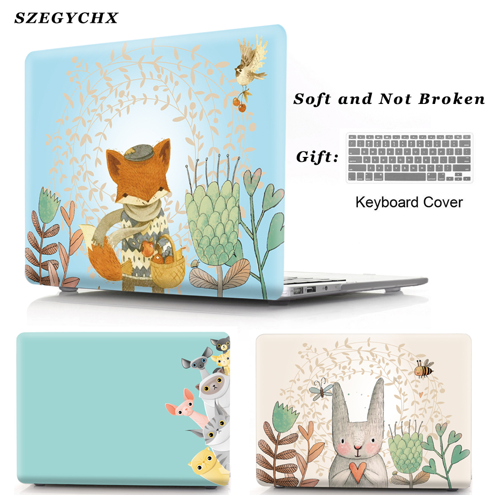 Fox Hard Shell Laptop Case For MacBook Air Pro Retina 11 12 13 15 13.3 New Touch Bar For Macbook New Air 13 A1932 2018 Cover