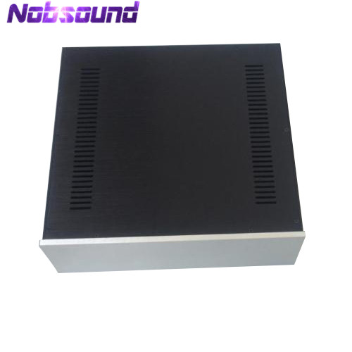 цена на Nobsound Aluminum Chassis CD/Preamplifier/Integrated/HTPC Enclosure Case W430*H140*D423mm