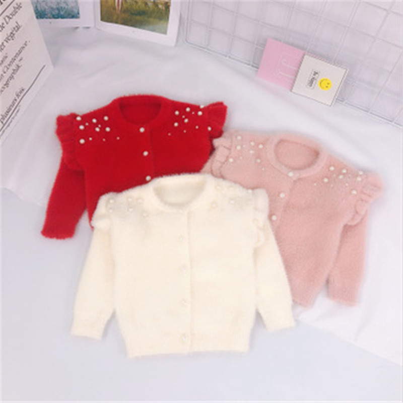 HTB1ZZRdaijrK1RjSsplq6xHmVXao - Infant Baby Toddler Clothes Sweaters Knitted Pearls Cardigan Coat For Girls Kids Coats And Jackets Children Outwear AA3311