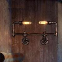 Loft Style Water Pipe Lamp Edison Wall Sconce Iron Antique Wall Lights Fixtures For Indoor Vintage Industrial Lighting