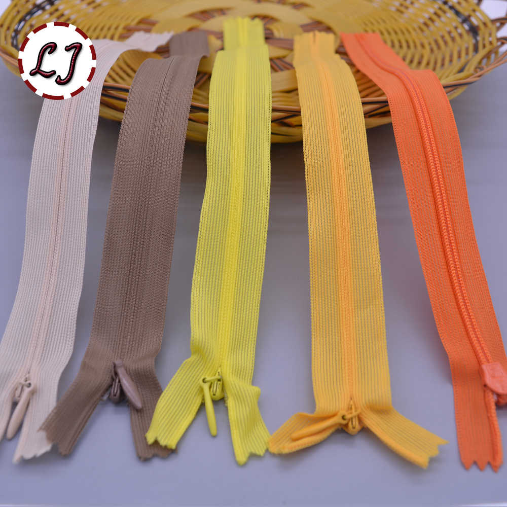 Бренд 12 шт./лот невидимая молния 25 см/см 40 см/60 см задняя подушка юбка скрытая 3 # нейлоновая молния для шитья/аксессуары для одежды DIY