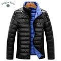 ZONA de SELVA inverno down jacket Casual Ultraleve Pato Dos Homens Para Baixo Pato Para Baixo Casacos Jaquetas Outono & Inverno Homens Jaqueta Leve